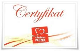 Certyfikat - szlachetna paczka