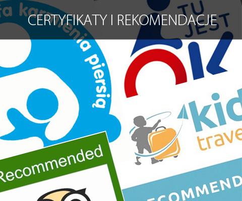 Certyfikaty i rekomendacje